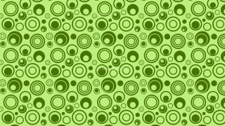 Green Seamless Geometric Circle Pattern