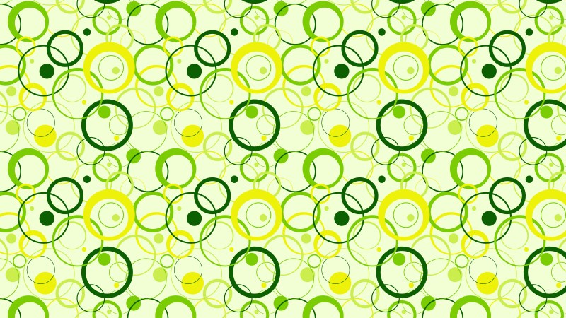 Green Overlapping Circles Background Pattern Vector