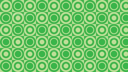 Green Geometric Circle Background Pattern Vector Illustration