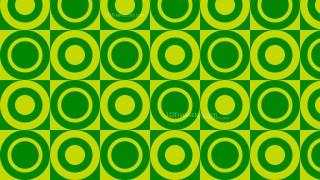 Green Seamless Geometric Circle Pattern Background Design