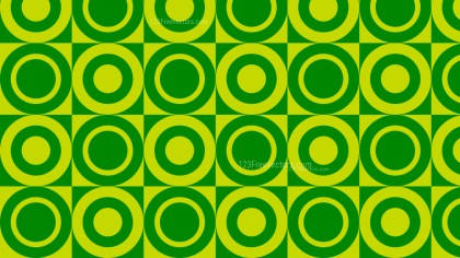 Green Seamless Geometric Circle Pattern Background Design