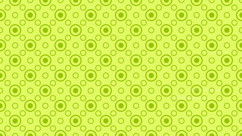 Lime Green Circle Pattern Background