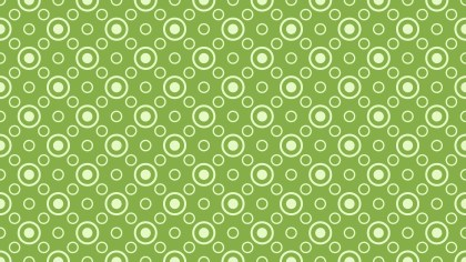 Green Geometric Circle Background Pattern