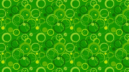 Green Seamless Overlapping Circles Pattern Background Graphic