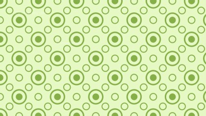 Light Green Seamless Circle Pattern
