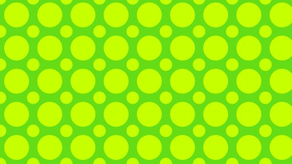 Green and Yellow Seamless Circle Pattern Background