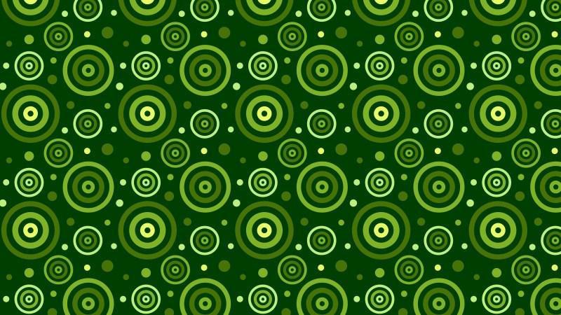 Dark Green Concentric Circles Pattern