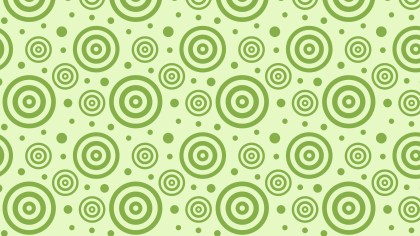 Light Green Seamless Concentric Circles Pattern Background