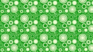 Green Seamless Random Circles Pattern Background Vector Graphic