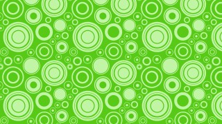 Green Random Circles Pattern Background