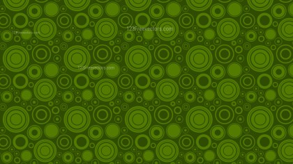 Dark Green Random Circles Background Pattern