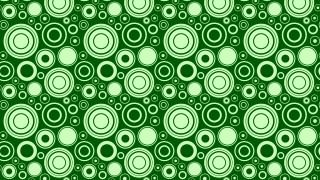 Green Seamless Geometric Circle Pattern Background