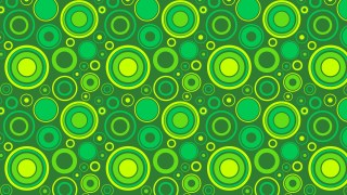 Green Circle Pattern Background Vector Illustration