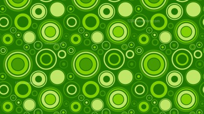 Green Circle Background Pattern Vector