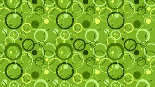 Green Overlapping Circles Pattern