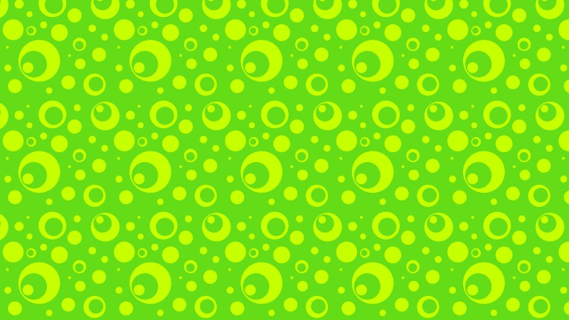 Green and Yellow Geometric Circle Pattern Background Graphic