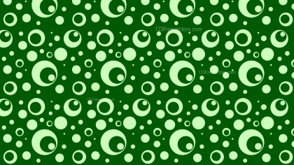 Green Seamless Geometric Circle Pattern Vector Image