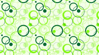Light Green Overlapping Circles Pattern Background