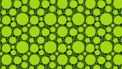 Green Circle Pattern Background