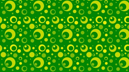 Green Geometric Circle Pattern