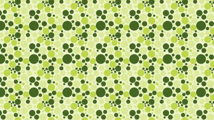 Green Random Circles Dots Background Pattern