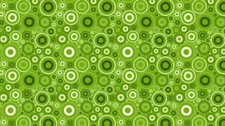 Green Seamless Random Circles Pattern