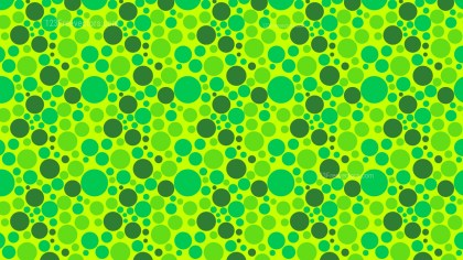 Green Scattered Dots Pattern
