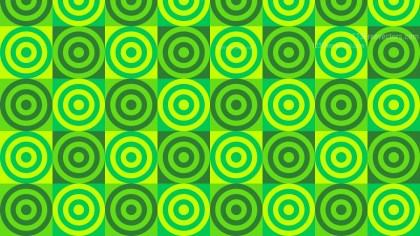 Green Concentric Circles Pattern Illustrator