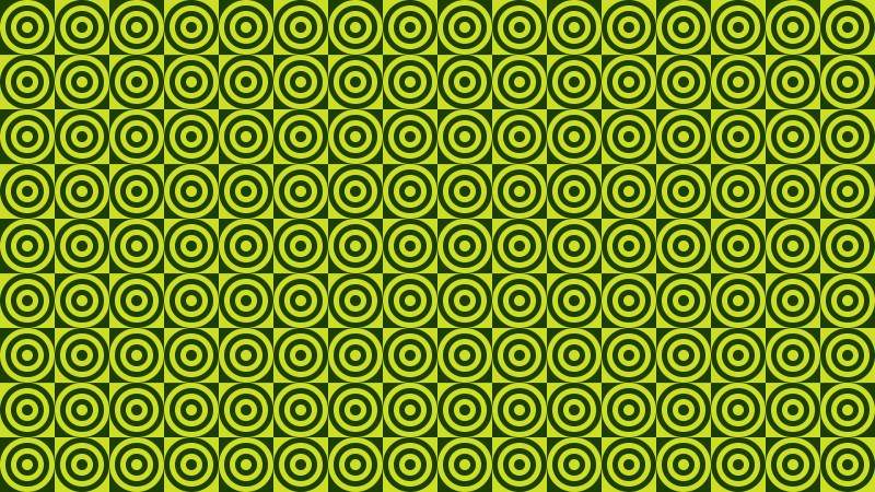 Green Concentric Circles Pattern