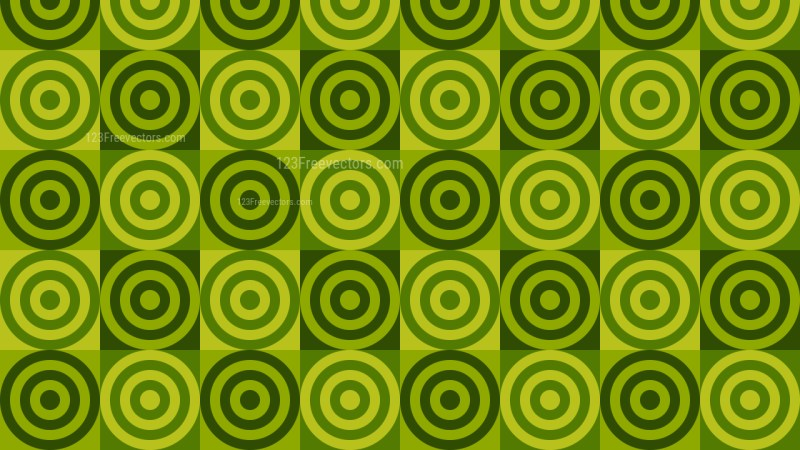 Green Concentric Circles Pattern Background