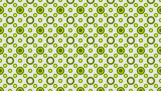 Green Seamless Circle Pattern Background