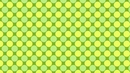 Lime Green Seamless Geometric Circle Background Pattern