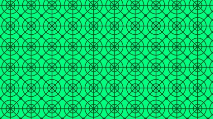 Emerald Green Geometric Circle Background Pattern Vector Image