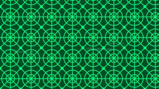 Dark Green Seamless Circle Pattern Background Vector Illustration