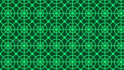 Dark Green Seamless Circle Pattern Background Vector Illustration