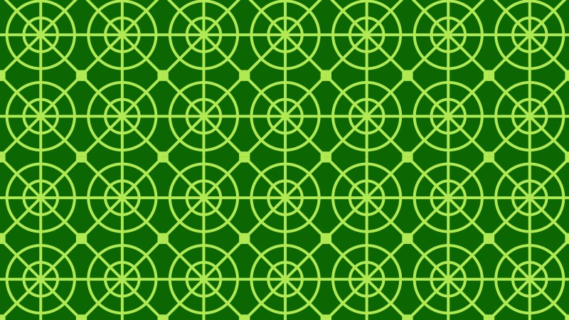 Green Seamless Circle Background Pattern Vector