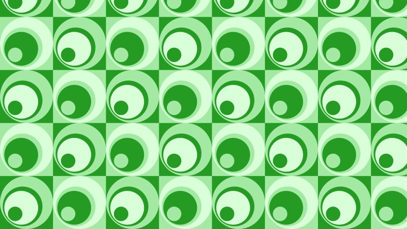 Green Seamless Geometric Circle Pattern Vector Art