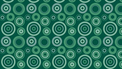 Green Seamless Geometric Circle Pattern Background Graphic