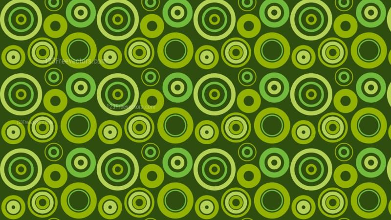 Dark Green Seamless Geometric Circle Background Pattern Illustration
