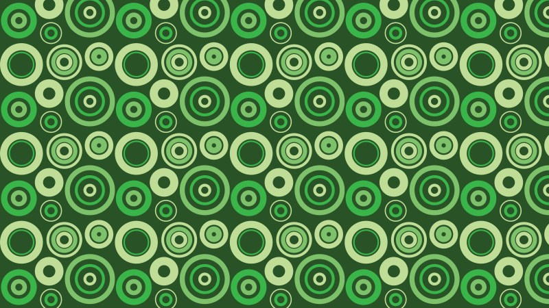 Dark Green Circle Background Pattern