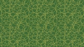 Dark Green Overlapping Circles Background Pattern
