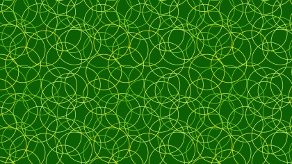 Dark Green Seamless Overlapping Circles Pattern