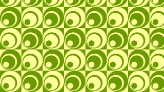 Green Geometric Retro Circles Pattern Background