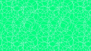 Emerald Green Seamless Overlapping Circles Pattern Background