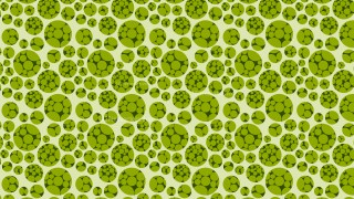 Green Seamless Dotted Circles Pattern Background