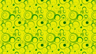 Green and Yellow Seamless Circle Pattern