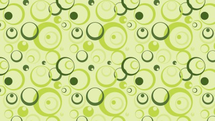 Light Green Seamless Circle Pattern Background