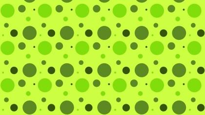 Lime Green Random Circles Dots Pattern Background Design
