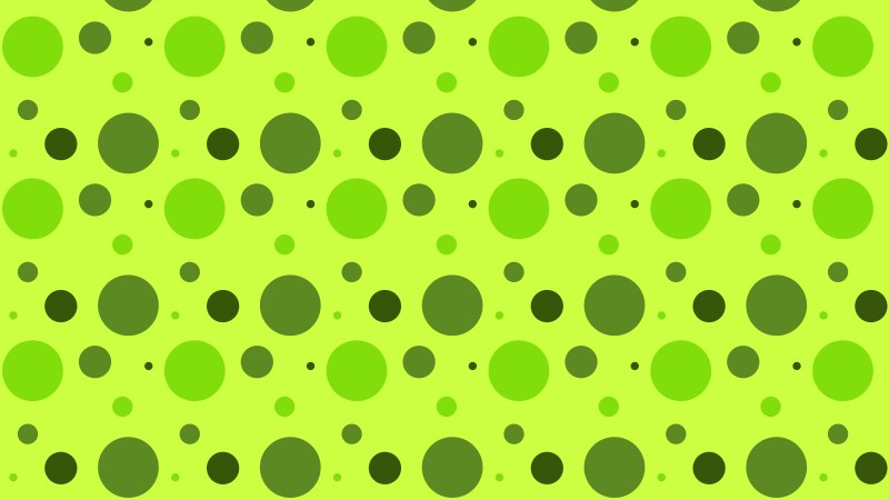 Lime Green Random Circles Dots Pattern Background Design