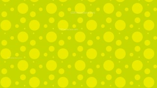 Green and Yellow Seamless Random Circle Dots Pattern Vector Graphic